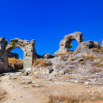 Ruins at Aspendos in Antalya, Turkey — Stock Photo