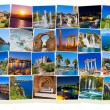 Stack of Antalya Turkey travel images — Stock Photo