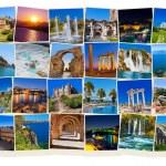 アンタルヤ トルコ旅行の画像のスタック — ストック写真