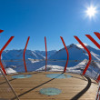 Viewpoint at mountains ski resort Bad Gastein - Austria — Stock Photo