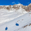 Cableway shadow - Hochgurgl Austria — Stock Photo