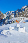 Snow fort in mountains ski resort - Innsbruck Austria — Stock Photo