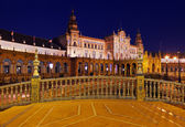 Palace at Spanish Square in Sevilla Spain — Stok fotoğraf