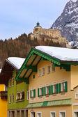 Village and castle Werfen near Salzburg Austria — Stock Photo