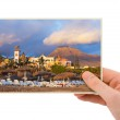 Tenerife Canary photography in hand — Stock Photo #33386259