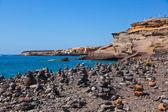 Pile de pierres sur la plage — Photo
