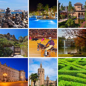 Collage of Spain images — Stock Photo