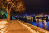 Salzburg Austria at night — Stock Photo