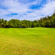 Golf field - island Praslin Seychelles — Stock Photo