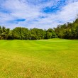Golf field - island Praslin Seychelles — Stock Photo #33623871