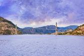 Bridge in fjord Lysefjord - Norway — Stock Photo