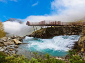 Stigfossen waterfall and viewpoint - Norway — Stock Photo