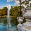 Stock Photo: Fountain and pond near Crystal Palace - Madrid