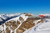 Cafe at mountains - ski resort Bad Gastein — Stock Photo