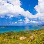 Landscape of island Praslin - Seychelles — Stock Photo #34434779