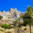 Stock Photo: Old fort in Corinth, Greece