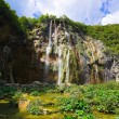 Plitvice waterfall in Croatia — Stock Photo