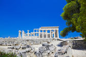 Ruins of temple on island Aegina, Greece — Stock Photo