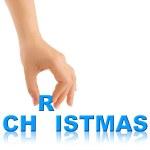Hand und Wort Weihnachten — Stockfoto