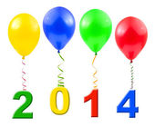 Balloons and 2014 — Stock Photo