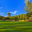 Golf field at Seychelles — Stock Photo