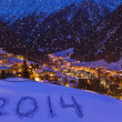2014 on snow at mountains - Solden Austria — Stock Photo