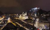 Salzburg Austria at winter — Stock Photo