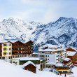 Stock Photo: Mountains ski resort Solden Austria