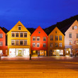 Famous Bryggen street in Bergen - Norway — Stock Photo