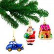 Christmas tree and toys — Stock Photo #35363525