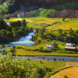 Stock Photo: Village in Flam - Norway