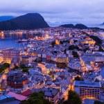 Cityscape of Alesund - Norway — Stock Photo #35369727