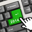 Computer keyboard with 2014 key — Stock Photo