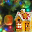 Lighting house and christmas tree — Stock Photo #35827543