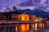 Spa resort Bad Ischl Austria at sunset — Stock Photo