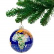 Globe and christmas tree — Stock Photo #36314551