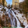 Waterfall in Mountains ski resort Bad Gastein Austria — Stock Photo