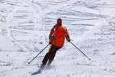 Narciarz w górach narty ośrodek innsbruck - austria — Zdjęcie stockowe