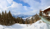 Mountains ski resort Zell-am-See Austria — Stock Photo