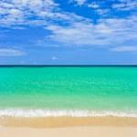 Word Welcome on beach — Stock Photo #4274696