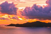 Island Praslin Seychelles at sunset — Foto de Stock