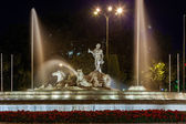The fountain of Neptune in Madrid — Стоковое фото