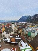 Město kufstein v rakousku — Stock fotografie