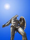 Statue of king Leonidas in Sparta, Greece — Stock Photo