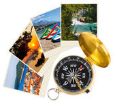 Croatia images and compass — Stock Photo