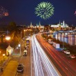 Fireworks over Kremlin in Moscow — Stock Photo #51449093