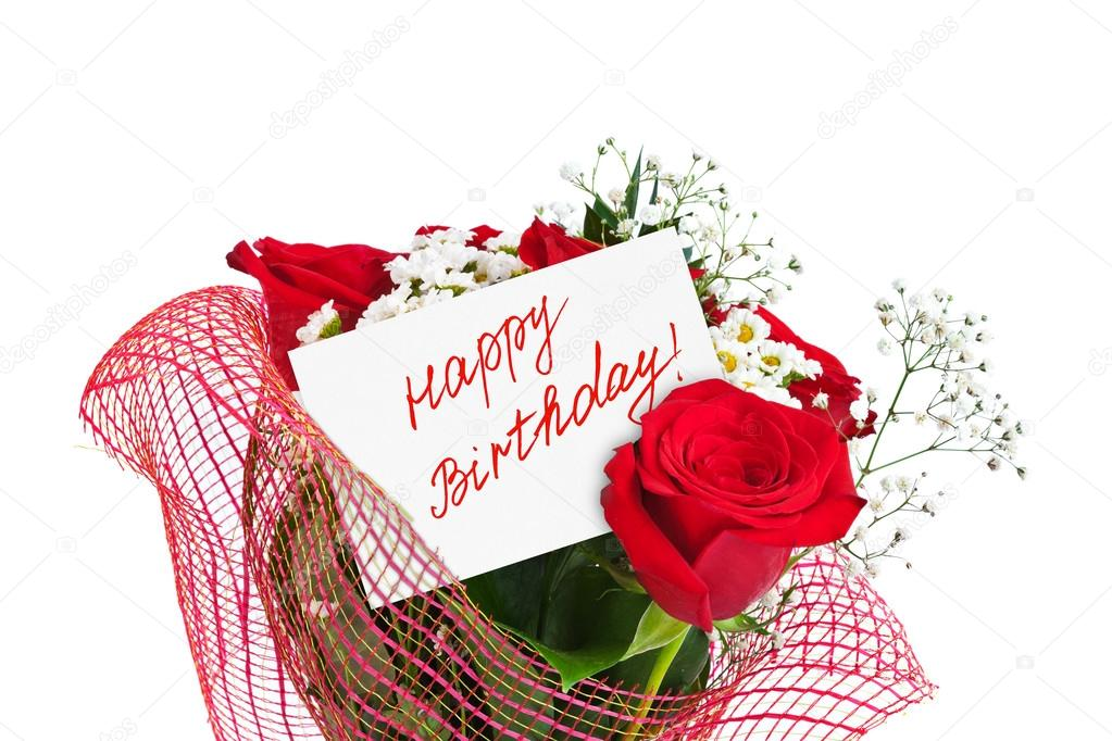 Happy Birthday Rose Flowers Cards Roses Bouquet And Card Happy
