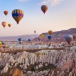 Hot air balloon flying over Cappadocia Turkey — Stock Photo #51633651