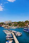 Old harbour in Antalya, Turkey — Stock Photo