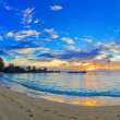 Tropical beach at sunset — Stock Photo #5234000